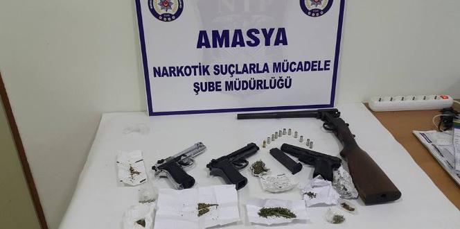 Amasya merkezli operasyonda 10 gözaltı