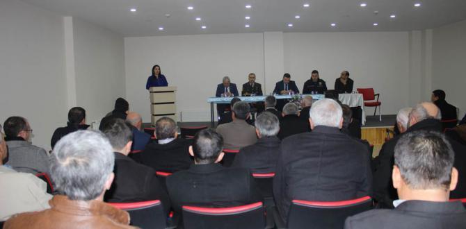Aralık Ayı Muhtarlar-Güvenlik Ve Uyuşturucu Ve Uyarıcı Maddelerle Mücadele Toplantısı Yapıldı