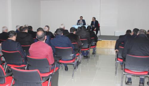 Kaymakamımız Sayın Mustafa GÜRBÜZ, Din Görevlileriyle Toplantı Yaptı.