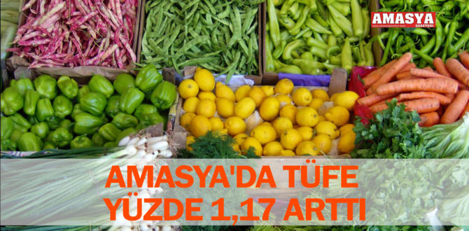 AMASYA'DA TÜFE YÜZDE 1,17 ARTTI