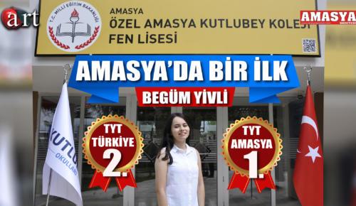 TYT TÜRKİYE 2.Sİ AMASYA KUTLUBEY FEN LİSESİNDEN