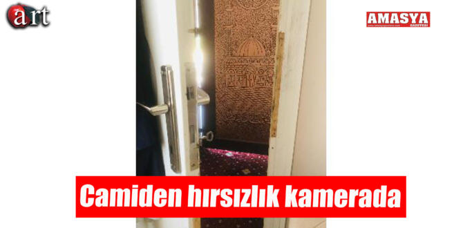 Camiden hırsızlık kamerada