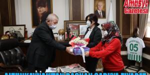 Altunkaynak'tan Başkan Sarı'ya ziyaret