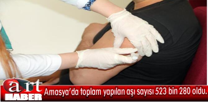 Covid-19 ile mücadele kapsamında Amasya'da toplam yapılan aşı sayısı 523 bin 280 oldu.