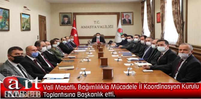 Vali Masatlı, Bağımlılıkla Mücadele İl Koordinasyon Kurulu Toplantısına Başkanlık etti.