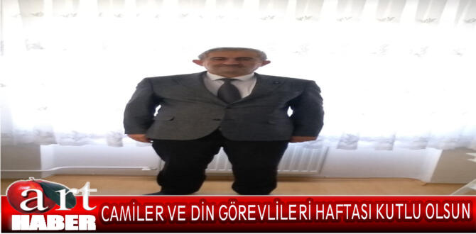 """Türk Diyanet Vakıf-Sen Amasya İl Başkanı 2021 yılı 1-7 Ekim """"Camiler ve Din Görevlileri Haftası"""" mesajı:"""